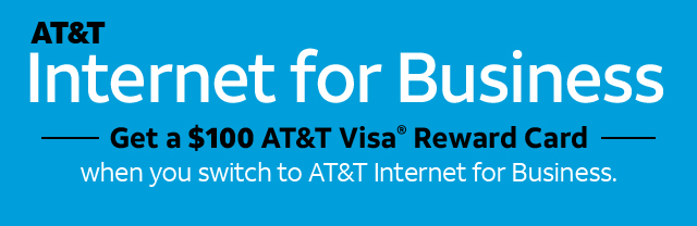 Get a $100 AT&T Visa Reward Card when you switch to AT&T